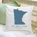 JDS GC1284 Personalized State Throw Pillow