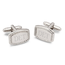 JDS GC1370 Beaded Rectangular Cufflinks