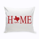 JDS GC1380 Personalized Home State Throw Pillow