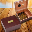 JDS Personalized  Cherry Wood Humidor