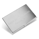JDS Personalized Silver Plated Business Card Case