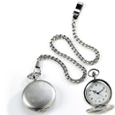 JDS Personalized Silver  Brushed Pocket Watch