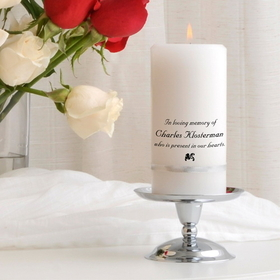 JDS Personalized Memorial Candle Set