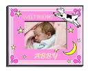 JDS Personalized Girl's Cow Jumping Over the Moon Picture Frame
