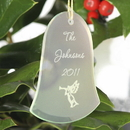 JDS Personalized Bell Christmas Ornament