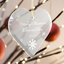 JDS Personalized Heart Christmas Ornament