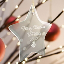 JDS Personalized Star Christmas Tree Ornament