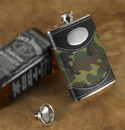 JDS Personalized Green Camouflage Flask