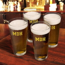 JDS Personalized Set of 4 Collegiate Icon Pint Glasses