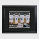 JDS GC727 Personalized MLB Clubhouse Print with Matted Frame - Gifts for Him - Father's Day Gifts