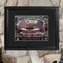JDS Personalized College Stadium Print with Wood Frame