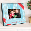 JDS Personalized Snowflakes and Stripes Holiday Picture Frame