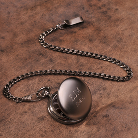 JDS GC775 Gunmetal Pocket Watch