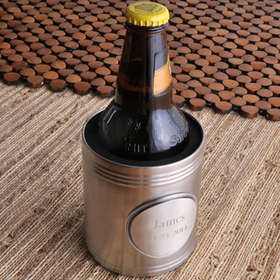 JDS Personalized Koozie with Pewter Medallion