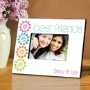 JDS Personalized BFF Playful Peonies Picture Frame