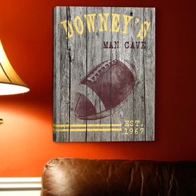 JDS Personalized Football Canvas Print