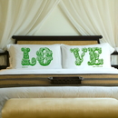 JDS Couples Personalized LOVE Connection Pillow Case Sets