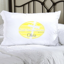 JDS Personalized Yellow Celtic Blessings First Communion Pillow Case