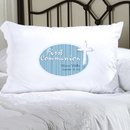 JDS Personalized Blue Light of God First Communion Pillow Case