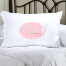 JDS Personalized Pink Light of God First Communion Pillow Case