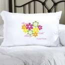 JDS Personalized Flowers and Faith Pillow Case