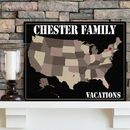 JDS Personalized Earth Tones Family Travel Map