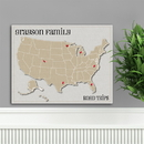 JDS Personalized Heart at Home Family Travel Map