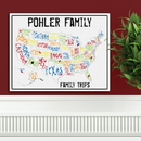 JDS Personalized Spectrum Family Travel Map
