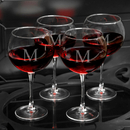 JDS Personalized Set of 4 Red Wine Glasses