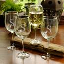 JDS Personalized Set of 4 White Wine Glasses