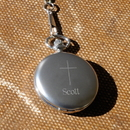 JDS Inspirational Pocket Watch with Engraved Cross