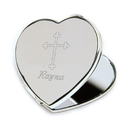 JDS Inspirational Compact with Engraved Cross