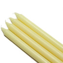 "Jeco CEZ-091 10"" Ivory Straight Taper Candles (1 Dozen)"