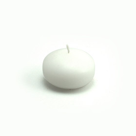 "Zest Candle CFZ-001 1 3/4"" White Floating Candles (24pc/Box)"