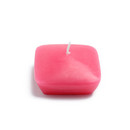 "Jeco CFZ-133 2 1/4"" Hot Pink Square Floating Candles (12pc/Box)"