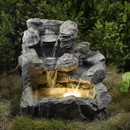Jeco FCL028 Rock Creek Cascading Outdoor/Indoor Fountain with Illumination