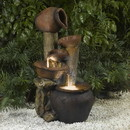Jeco FCL031 Pentole Pot Outdoor/Indoor Fountain with Illumination
