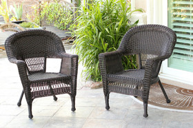 Wicker Lane W00201_2 Espresso Wicker Chair - Set of 2