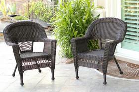Wicker Lane W00201_2 Espresso Wicker Chair - Set of 2
