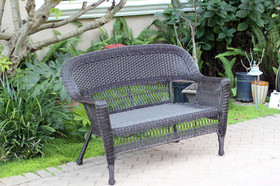 Wicker Lane W00202-LE Espresso Wicker Patio Love Seat