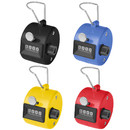 GOGO 4 Pcs Tally Counter, Carnival Plastic Tally Counter Clicker, 4 Colors