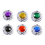 GOGO Hand Bag Purse Hook Hanger, Assorted Crystal Surrounded By Diamonds Foldup, Price/6 Pcs