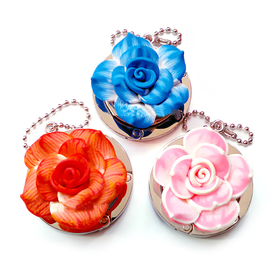 GOGO Flowers Foldable Hand Bag Purse Hook Hanger, Assorted Colors, Price/6 Pcs