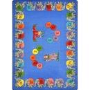 Joy Carpets 1434 Rug, Circus Elephant Parade