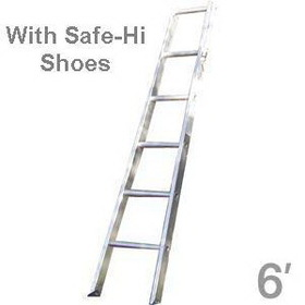 Metallic Ladders WC-6B-P w/shoes Ladder Base 06ft w/Shoes Metallic