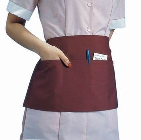 "Johnson-Rose 30951 Waist Apron, 23 X 11"", Poly/Cotton, Triple Pocket, Black, 612941309519, Price/EA"
