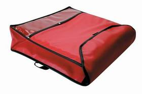"Pizza Delivery Bag, 20"" X 20"" X  5"", Insulated, Red, 30968, Price/EA"