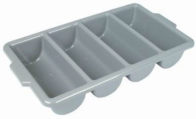 Johnson-Rose 3640 Cutlery Box, 4 Compartment, Gray, 612941036408, Price/EA