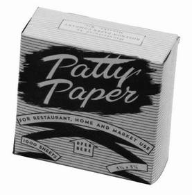 "Johnson-Rose 3668 Hamburger Patty Paper, 5-1/4"" X 5-1/4"", Two Spindle Holes 4-3/8"" Apart, 1500/Pk, 612941036682, Price/PK"
