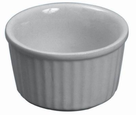 "Johnson-Rose 4038 Butter Dish/Ramekin, 2-1/2 Oz, 2-3/4"" Dia. X 1-3/8"" Depth, White Ceramic, 612941040382, Price/DZ"